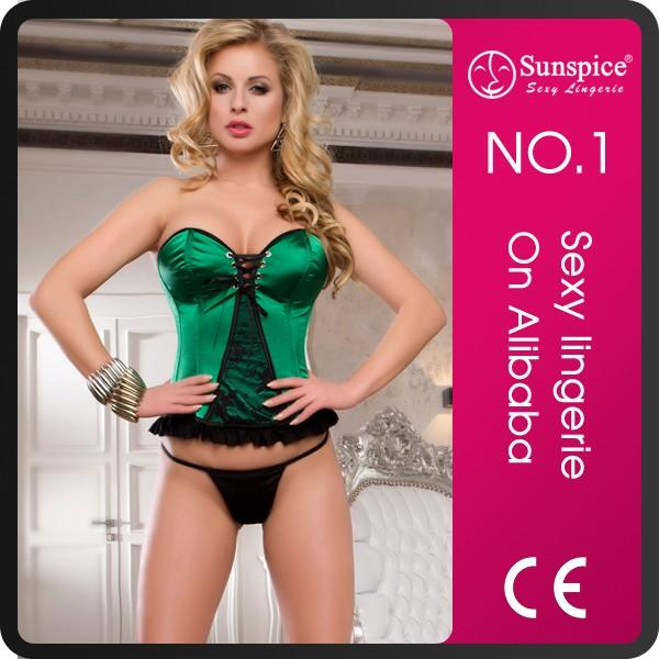 Sunspice after-sales service top quality sexy busty corset bustier