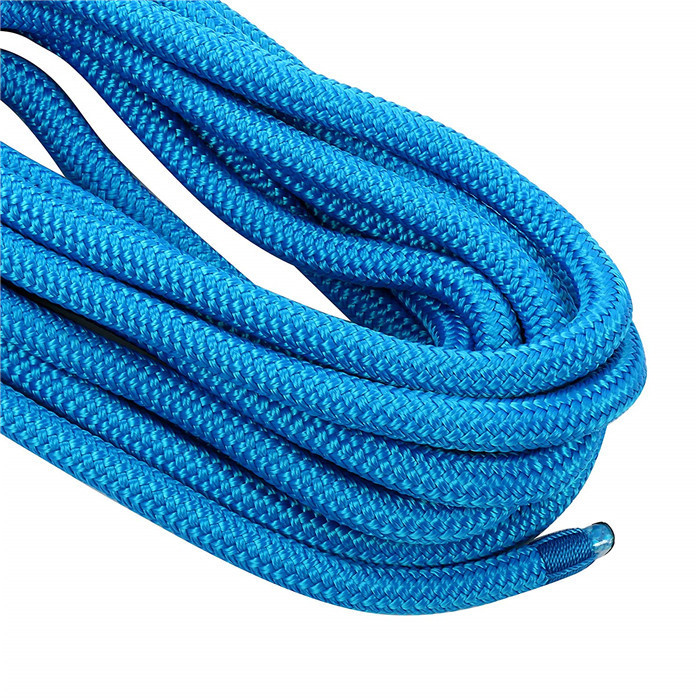 1/2x20ft lake blue double braided nylon dock line with 12inch spliced eye boat marine rope