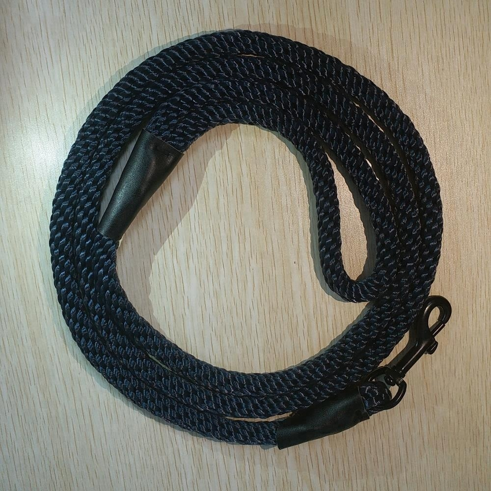 Solid braided dog leash rope for Small/Large pet polyester
