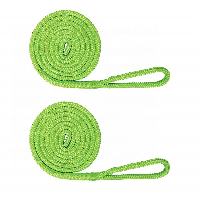 easy to handle flexible 3/8x6ft fender line pp mooring rope for boat