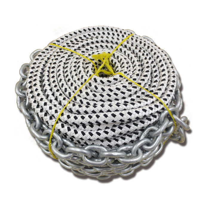 double braided nylon anchor rope for mooring use