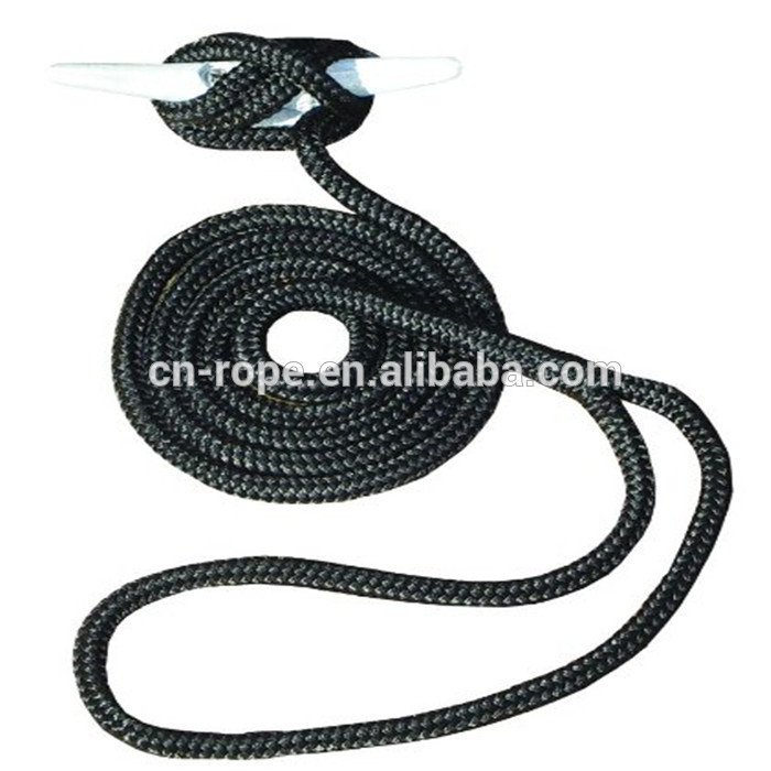 easy to handle boat mooring lines with spliced eye