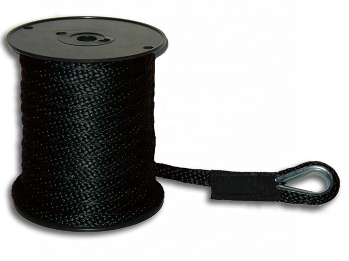 3/8x100ft Solid Braid MFP Anchor Line with Thimble