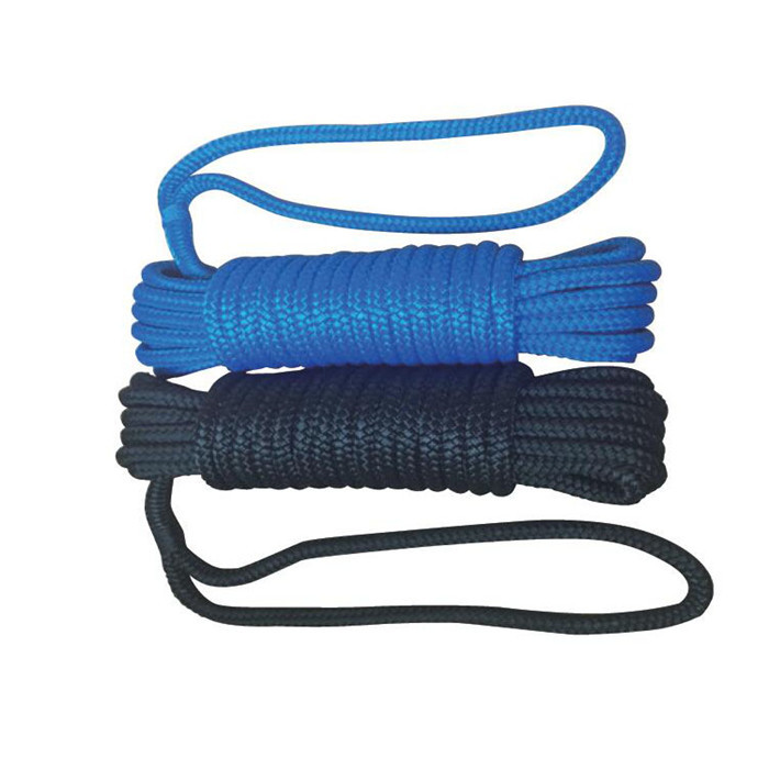 2 count double braided nylon dock line marine rope for yacht