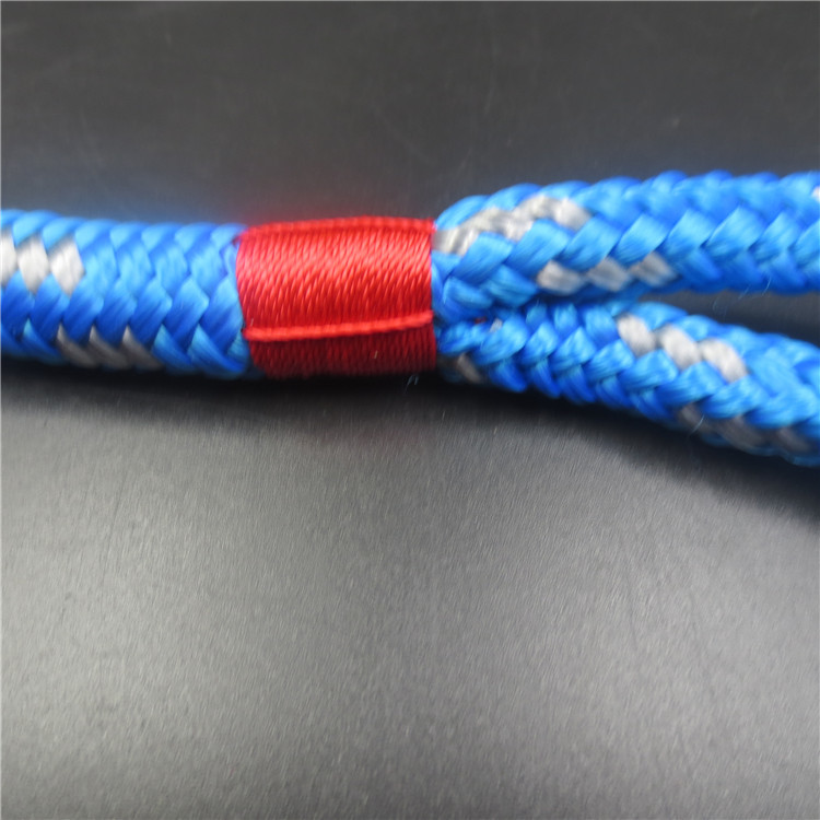 1/2inch nylon climbing rope dog leash with reflective strap