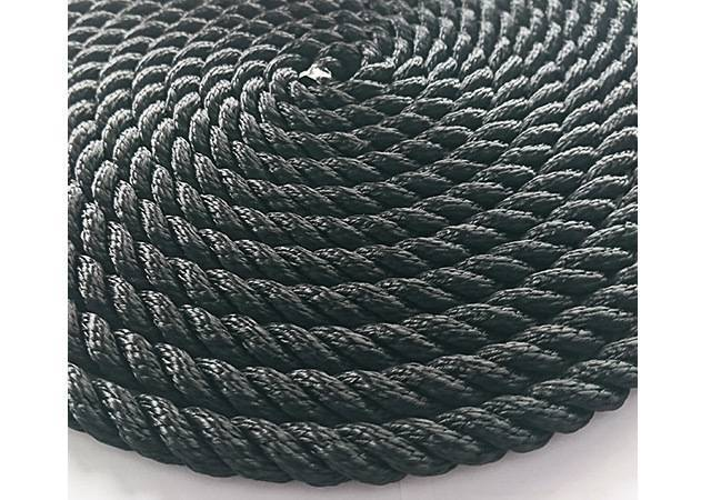 3 strand twisted boat rope, nylon braided mooring line for yacht