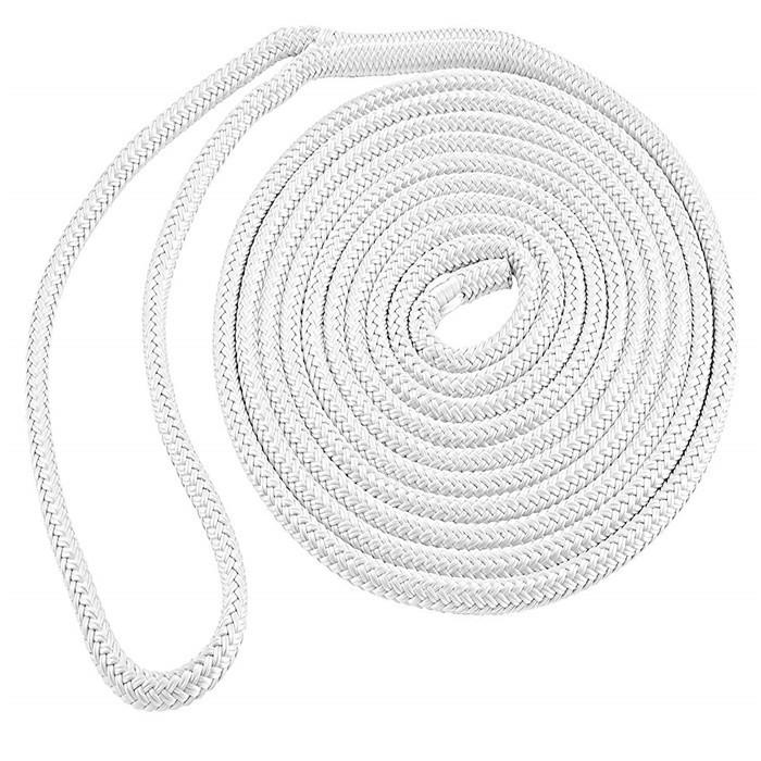 double braided nylon marine dock line,white boat mooring rope