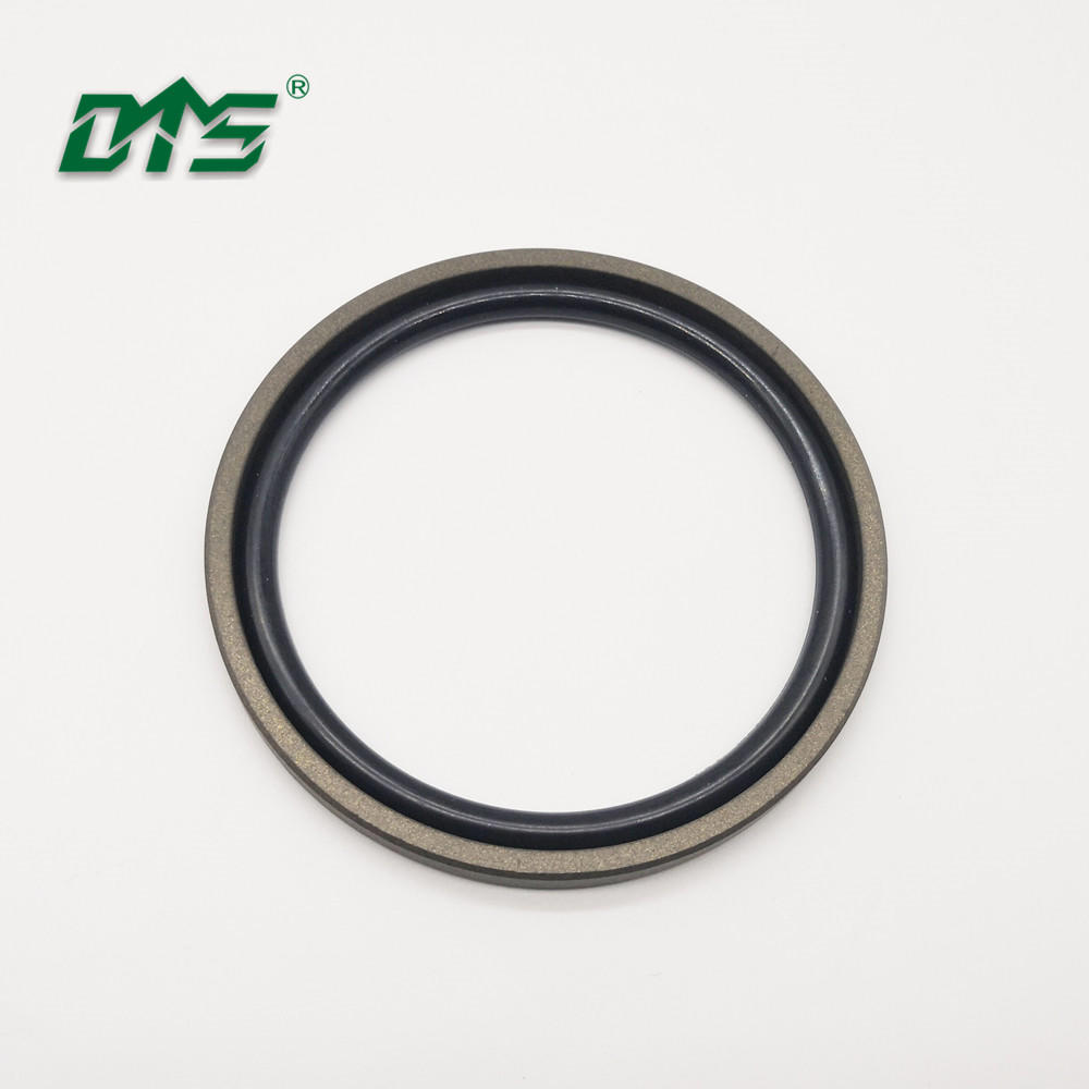 40% bronze PTFE hydraulic piston seal glyd ring with brown and green color