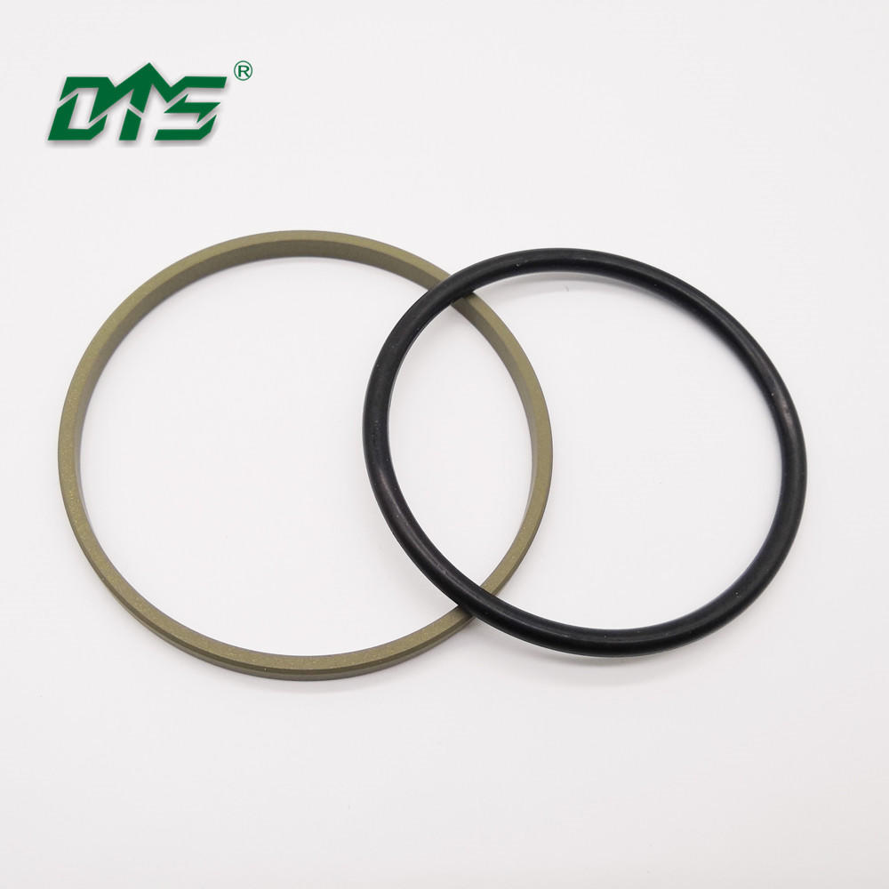 Excavator Floating Glyd Seal Bronze PTFE and NBR O-ring For Piston Seal GSF