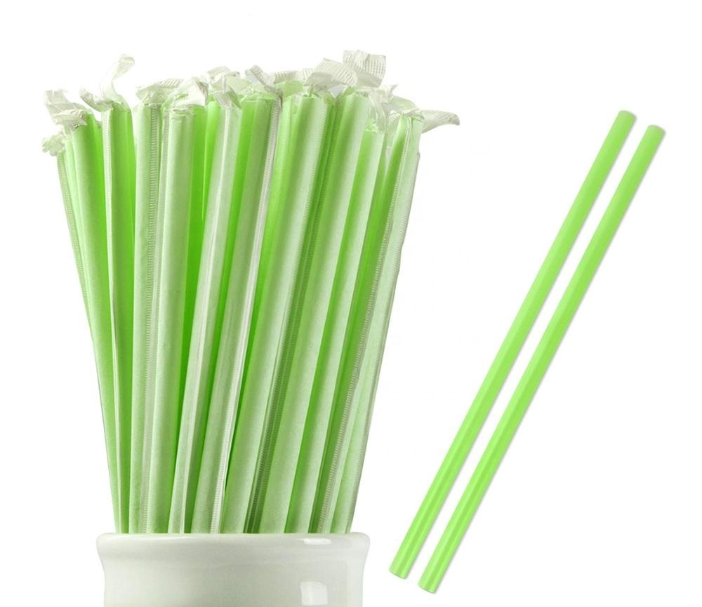 PLA Manufacturer AssortedColors Straws Biodegradable Eco Friendly Plant Based