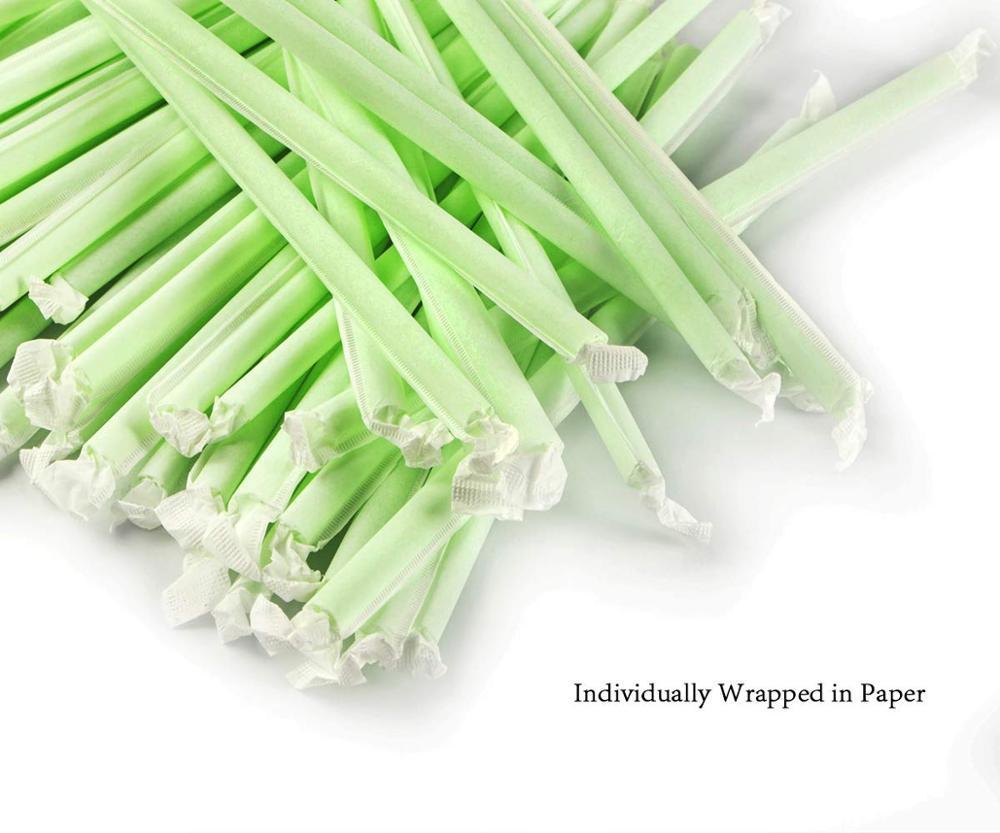 Custom 100% biodegradable straws plant based straws compostable