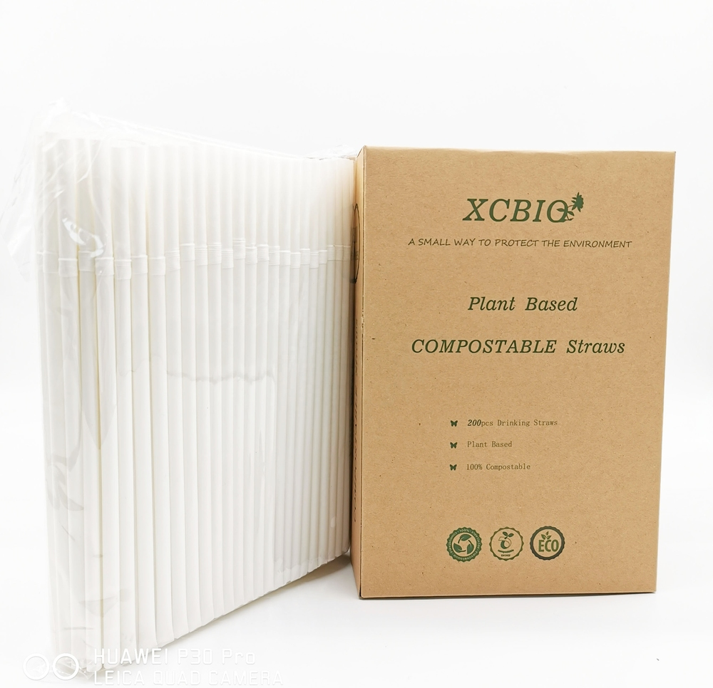 Disposable Plastic Biodegradable PLA Drinking Straw Wholesale Compostable Straw