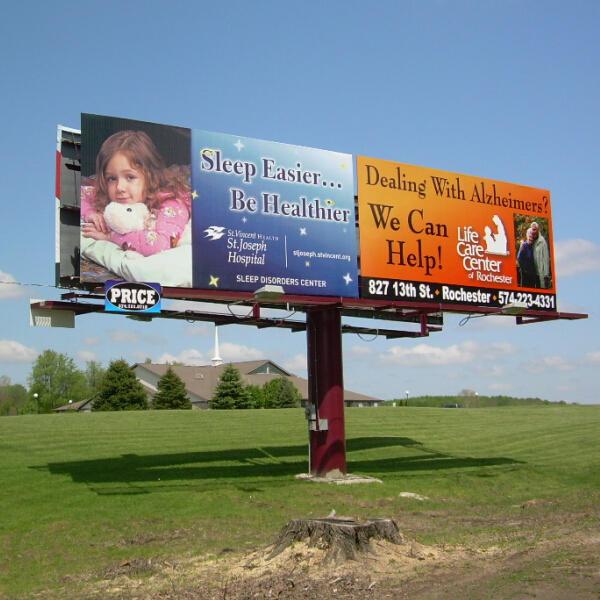 Outdoor double side steel advertising structure street billboard frame
