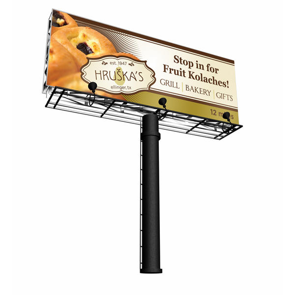Outdoor advertising metal structure frame billboard structure for sale