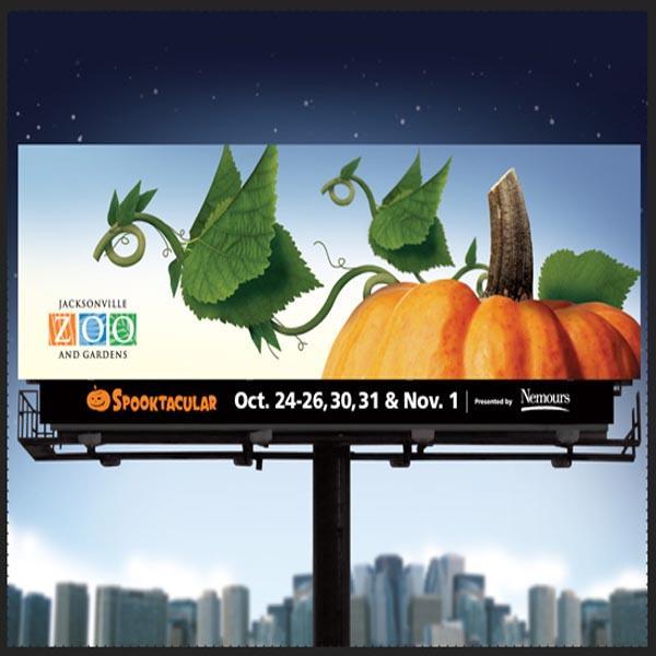 Outdoor galvanized advertising billboard frame structure design