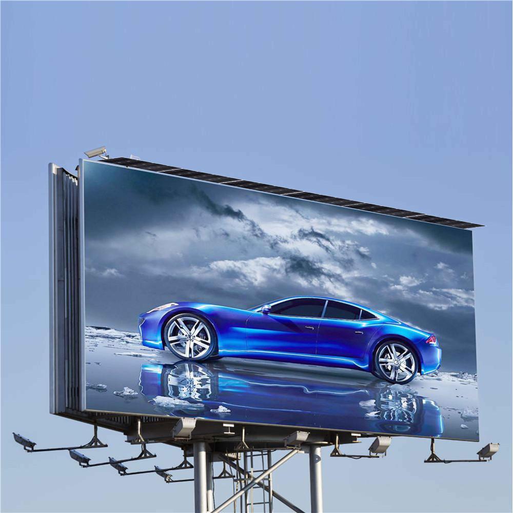 Outdoor Solar Power Unipole Advertising Billboard