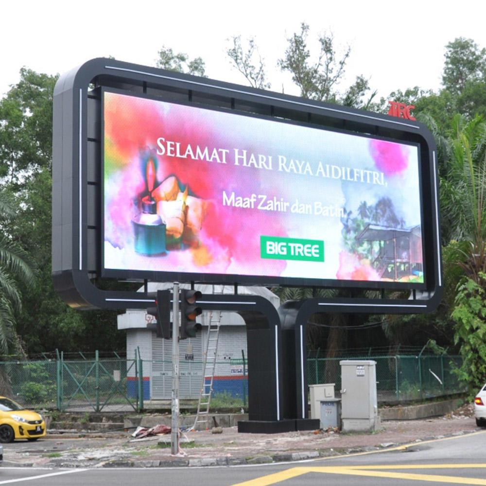 Outdoor double side digital led advertising billboard