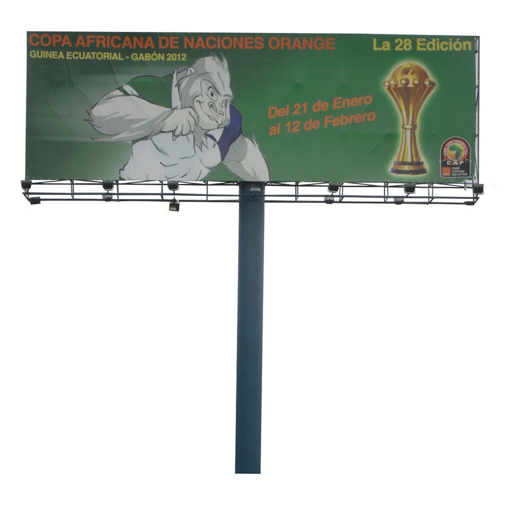 Advertising unipoles billboard structure frame for advertising