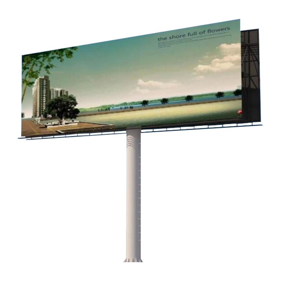 2019 Manufacturer direct advertising equipment customized design solar power 6x3m outdoor billboard