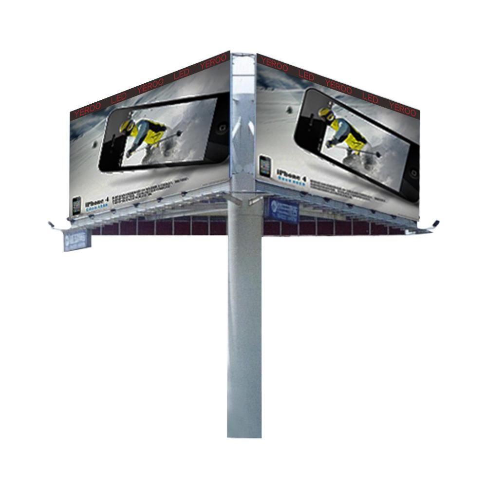 Three sidedfull color P8 P10 P12 P16 digital led billboard