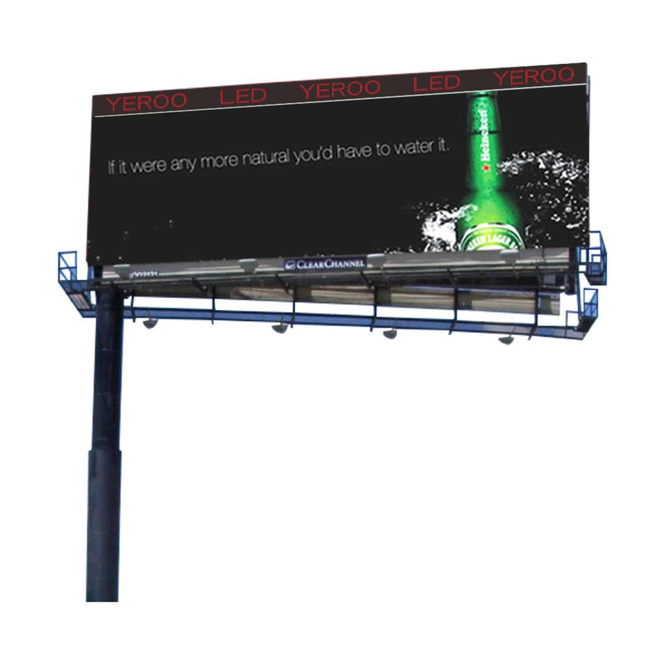 Outdoor advertising scrolling digital led billboard