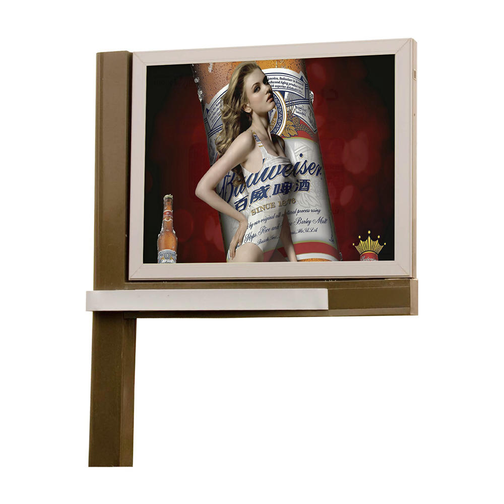 2019 Advertising equipment 4X3 double sided backlit outdoor billboard