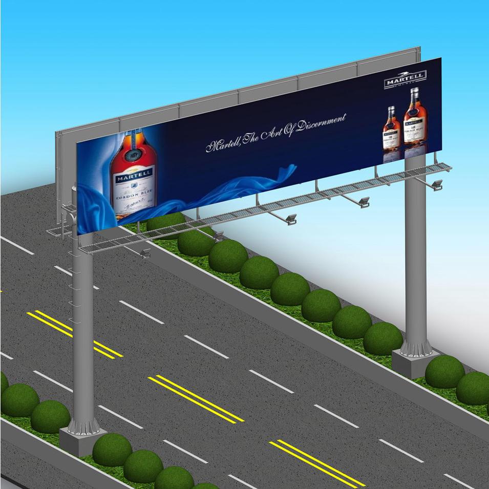 Highway street customized outdoor gantry billboard