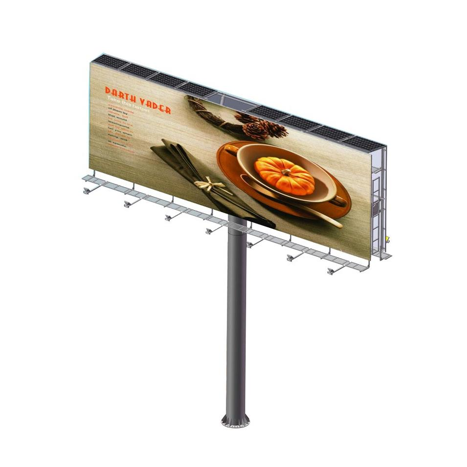 Solar powered electronic advertising billboards equipment
