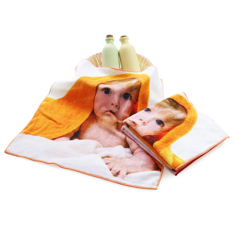 Customdigital printed 100% cotton hand towels for Kids cartoon personalized towel