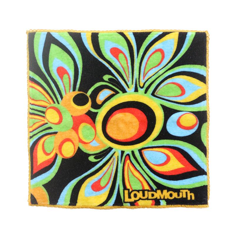 tropical style flowers customized gift 100 %organiccotton terry screen printedhand teatowel with custom logo
