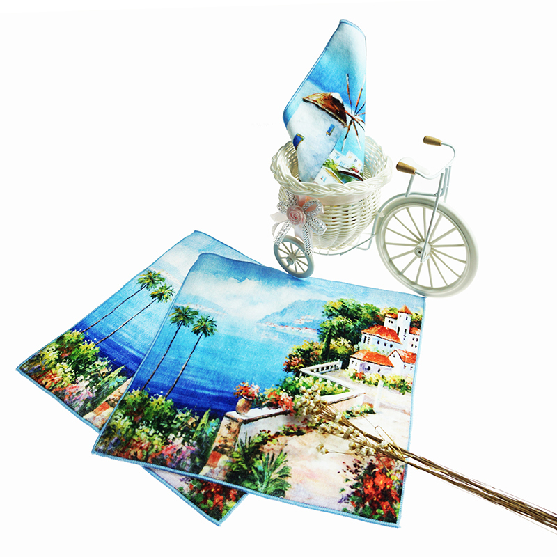 100% cotton custom towel printing Top Selling pattern Customized Printed Face Towels