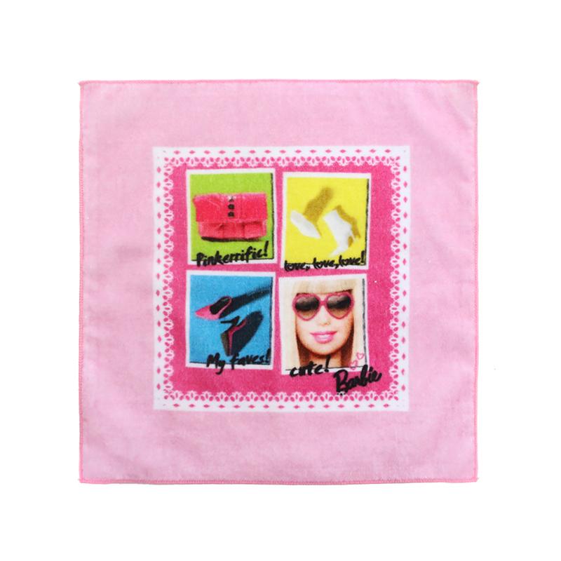 custom made souvenir gift 100 %cotton fabric digital printed hand towel and hand kerchief for kids girl