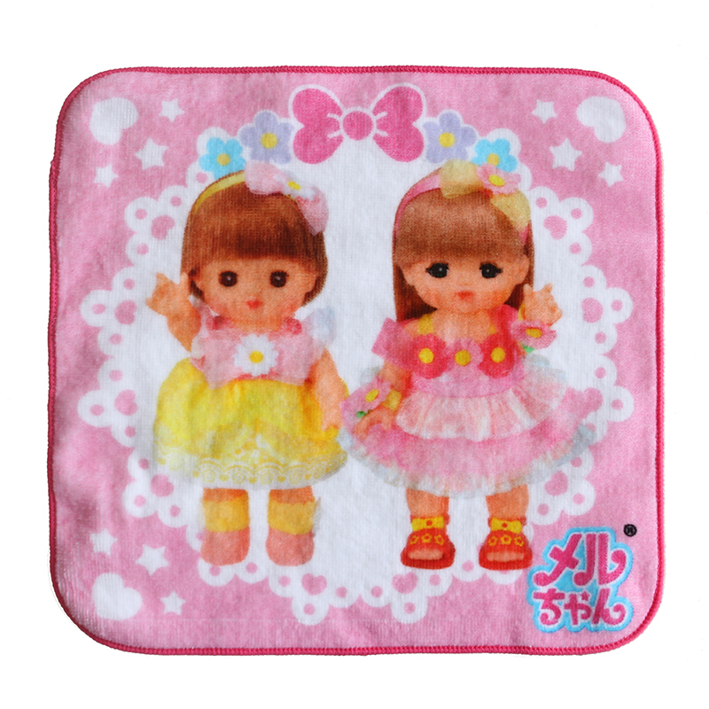 custom made souvenir baby gift 100 %organiccotton digital printed hand tea towel and handkerchief for kids girl