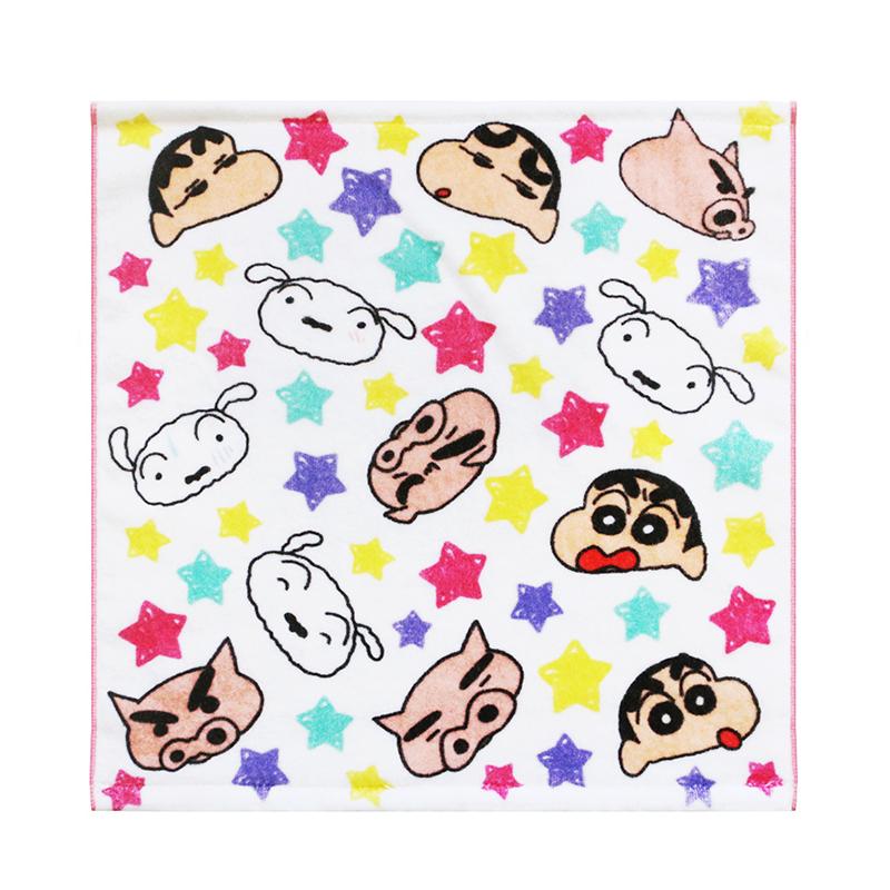 Wholesale customCrayon Shin-chan cartoon print 100% cotton hand towels