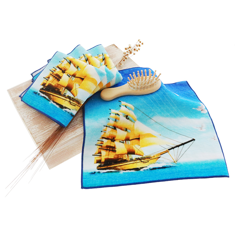 Customized 100% cotton printed digital cartoon towel hand mini towel 25*25cm
