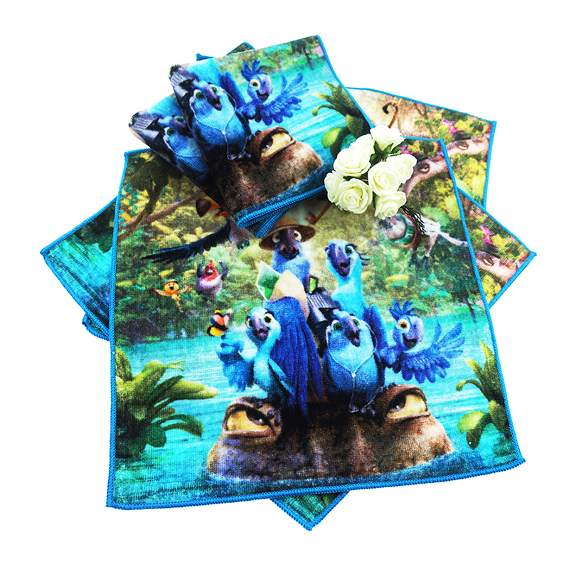Custom Parrot pattern printed hand towels for Kids cartoon personalized towel