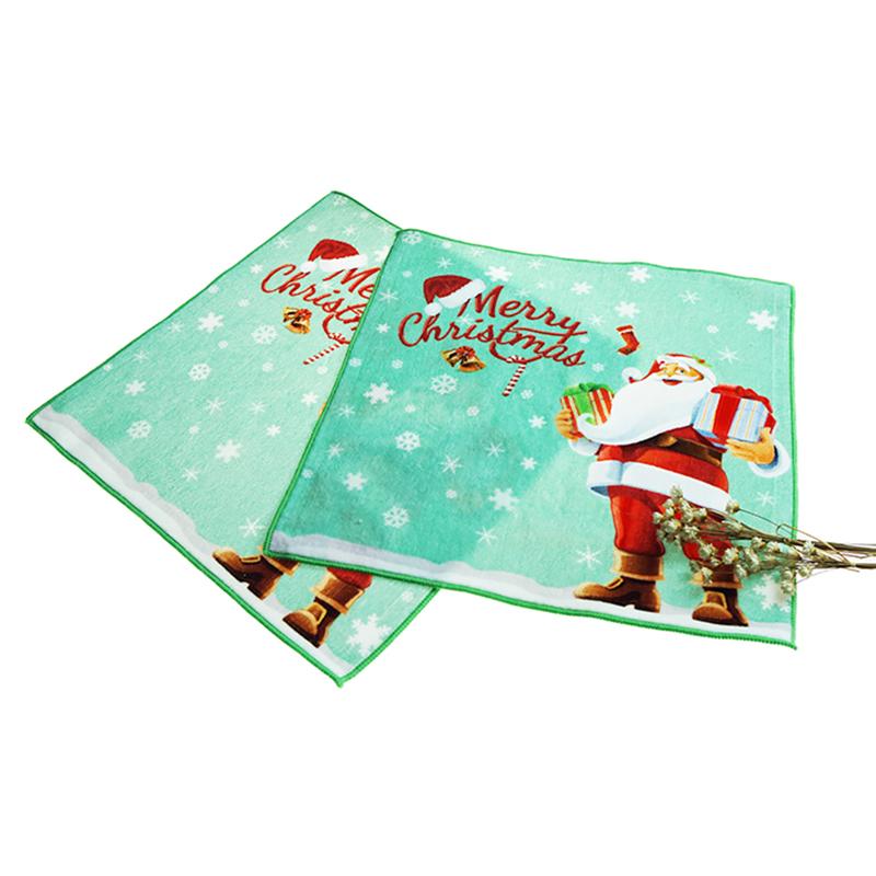 Wholesale Custom 100% Cotton Digital Printed Christmas Kids Hand Towel