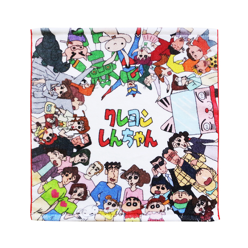 custom cartoon comic animation 100% cotton digital print hand towel with logo sloganfor kids
