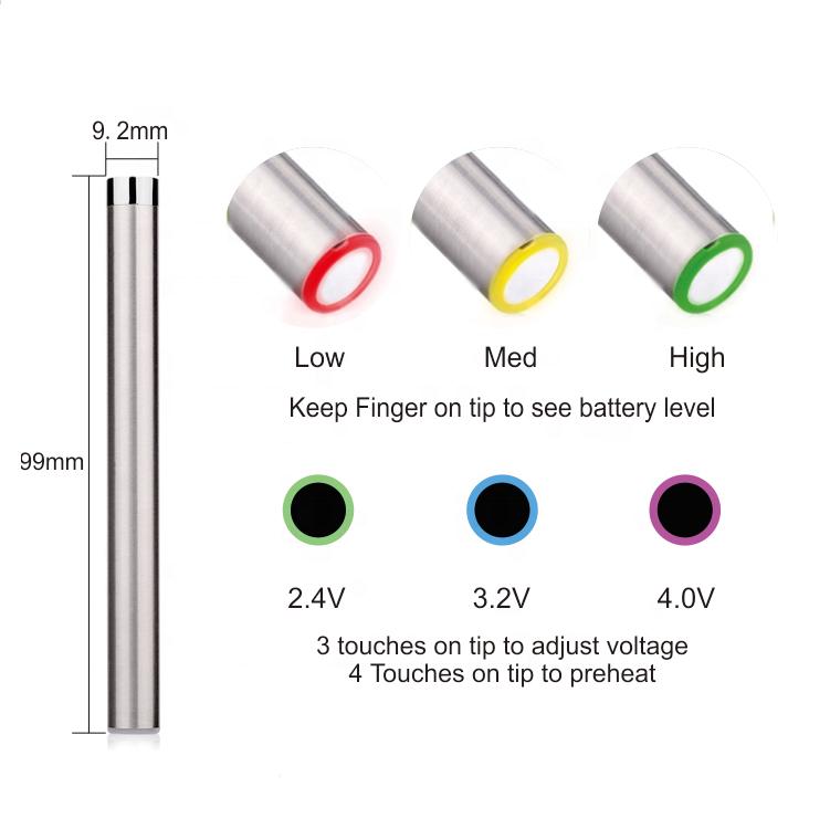 slim 510 thread auto battery no button micro usb wattage adjustable cbd vape pen starter kit