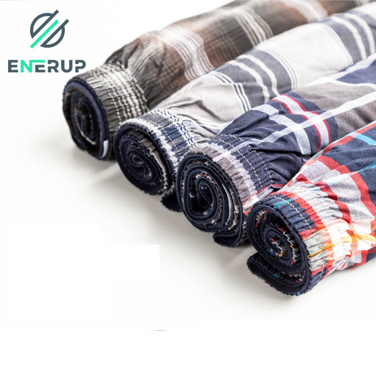 Enerup Cueca Homme Boys Mens Shorts Briefs Pack Underwear Tartan Boxer Para Hombre With side Exposed Waistband