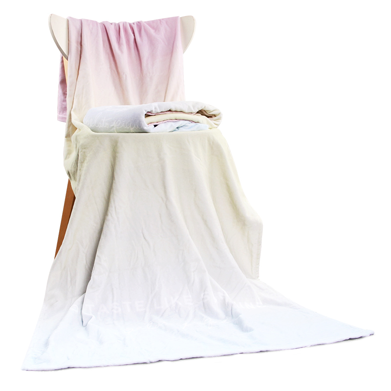 New Soft Quick-drying Digital Printing Custom 100% cotton blanket sand beach towel