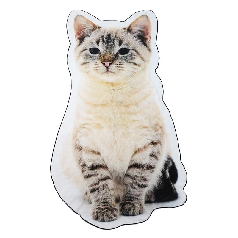 luxury custom made print cotton baby bath towel cartoon cute animal cat shape irregular for kids children gift