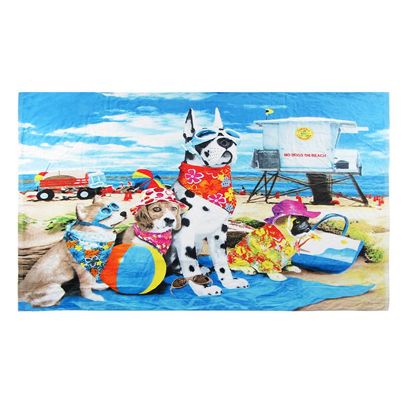 2021 Best-selling 100% cotton customizable color digital printed Bath Towel personalizedblanket beach towel