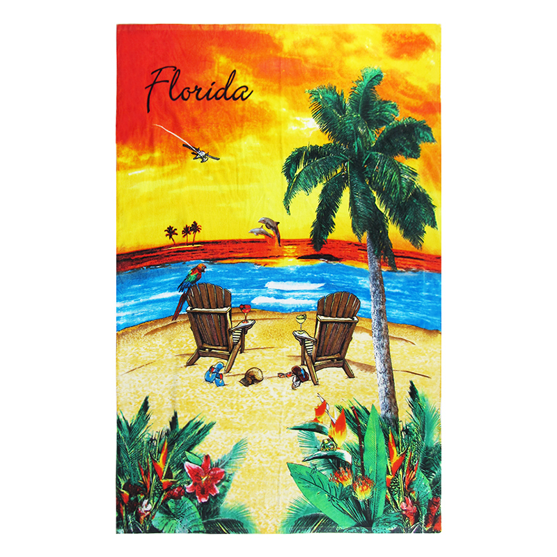 2020 Best-selling coconut pattern custom printed Quick Dry Towel beach Towels