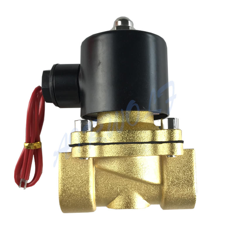 Pure copper coil stable and sensitive less noise brass water solenoid valve