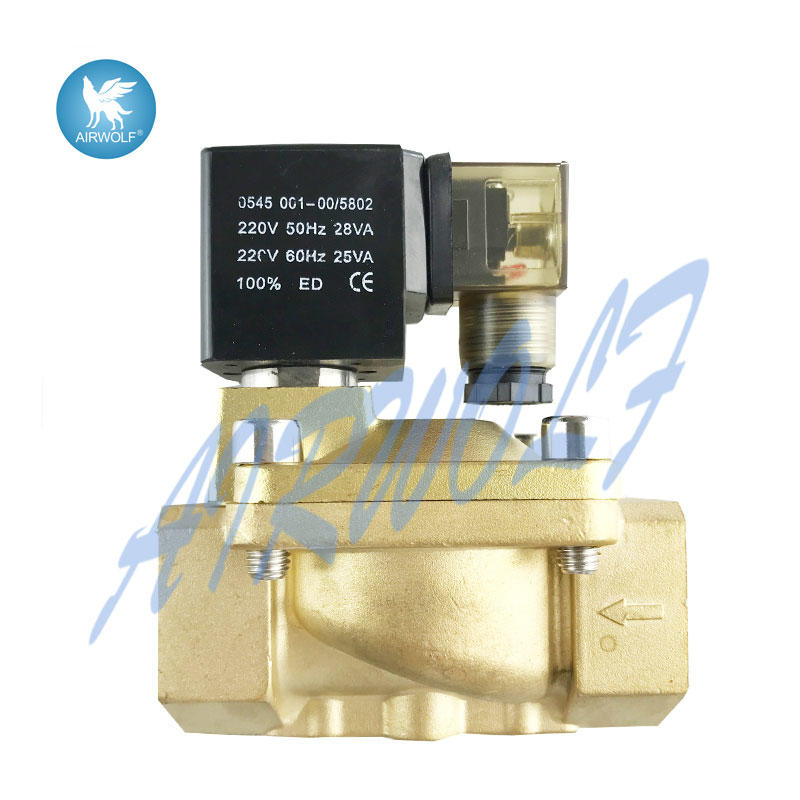 Normally Closed PU220 series diaphragm 2/2 Way brass water solenoid valve