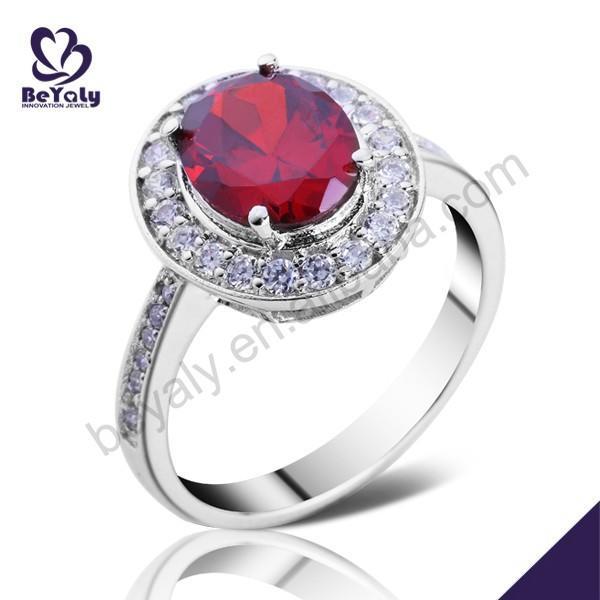 Prong setting fashion silver large stone rings settings