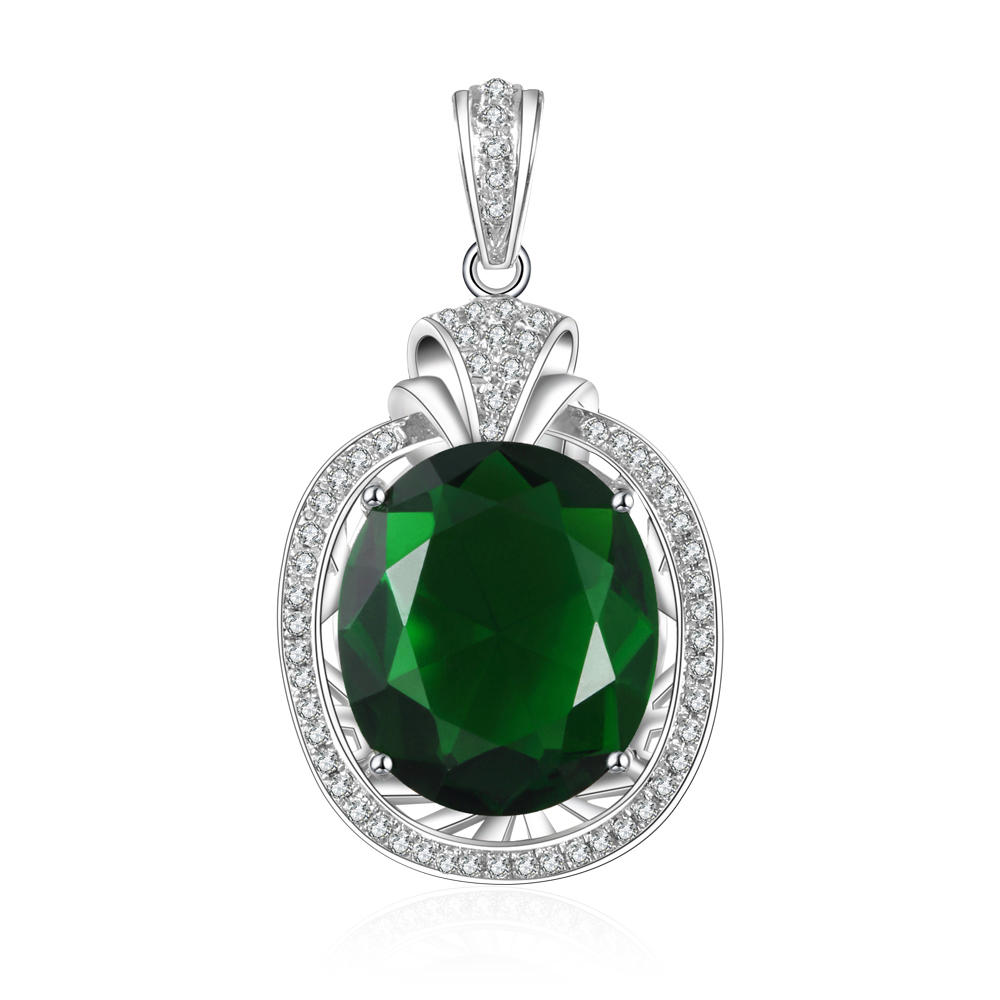 Costume Italian 925 Sterling Silver Jewelry Wholesale Gemstone Pendant Charm