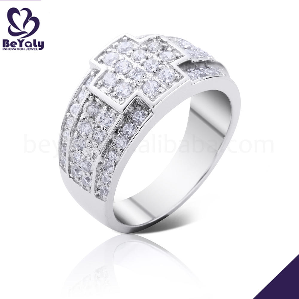 Cheap priced cross design cz lots sterling silver rings