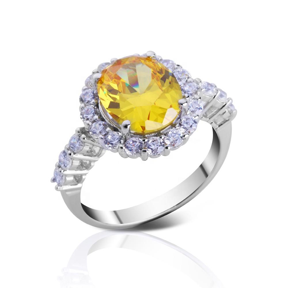 Custom Color Stone New Design Rings Silver Jewelry